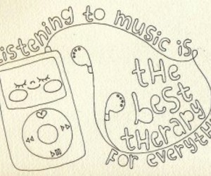 music, ipod, and therapy image