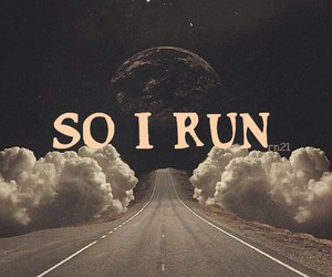 run, moon, and i image