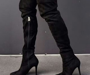 black, zapatos , and boots image