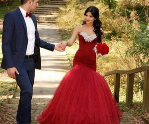 dress, red, and boy image