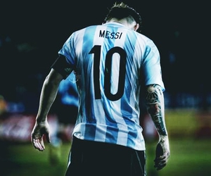 messi, argentina, and 10 image