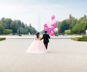 black, bride, and pink image