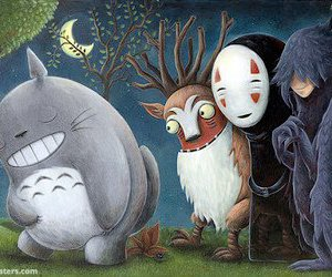 totoro, anime, and mononoke image
