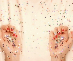 glitter, hands, and stars image