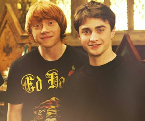 harry potter, daniel radcliffe, and ron weasley image