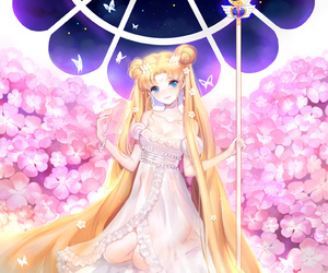 sailor moon, usagi tsukino, and princess serenity image
