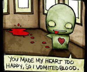 love, blood, and heart image