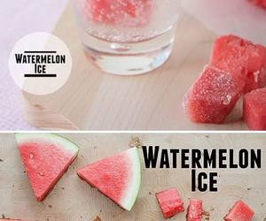 diy, watermelon, and ice image