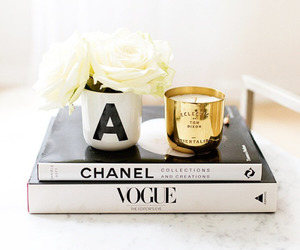 chanel, vogue, and flowers image