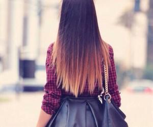 hair, girl, and bag image