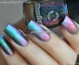 galaxy, nail art, and nail polish image