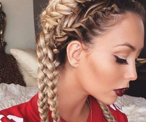 hair, braid, and makeup image