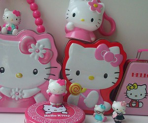 hello kitty, pink, and розовый image