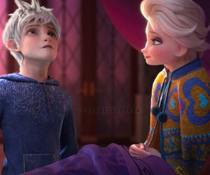 disney, jack and elsa, and frozen fever image