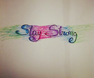 demi lovato, text, and stay strong image
