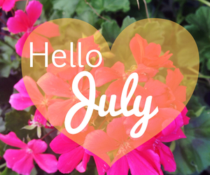 july, flowers, and summer image