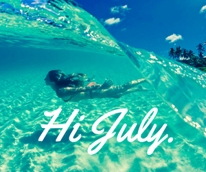 beach, july, and hello july image