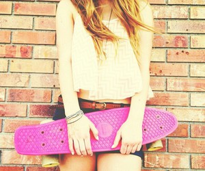 girl and skateboard image