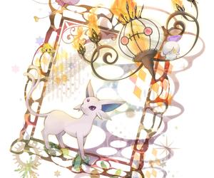 pokemon, espeon, and shiny pokemon image