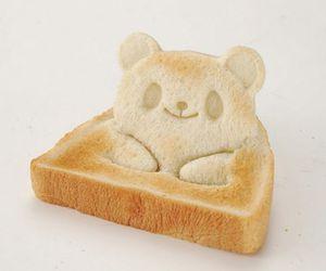 bear, bread, and toast image