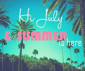summer, july, and beach image