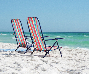 beach, chairs, and cool image