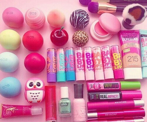 eos, makeup, and pink image