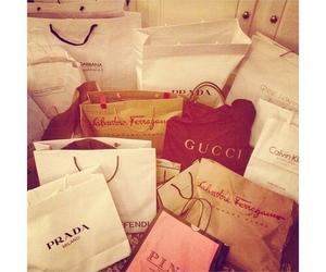 gucci, Prada, and shopping image