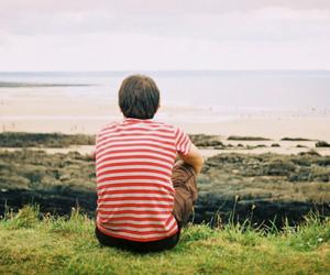 boy, beach, and beautiful image