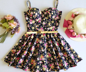 flowers, dress, and clothes image
