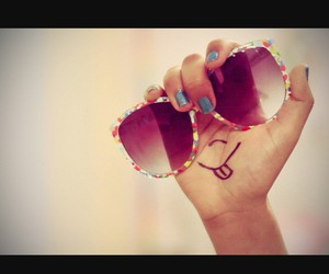 smile, glasses, and summer image