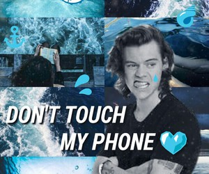 blue, lockscreen, and grunge image