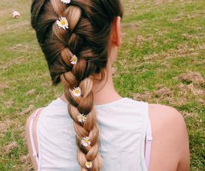 daisies, hair, and cute image
