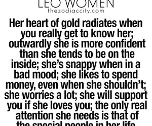 zodiac sign, leo woman, and astro facts image