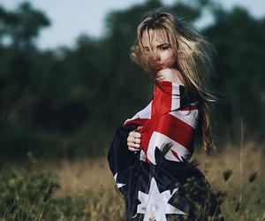 girl and flag image