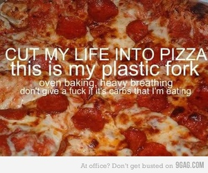 life, pizza, and text image