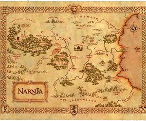 narnia, map, and book image