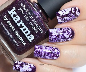 nails, purple, and cute image