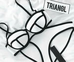triangl, bikini, and white image