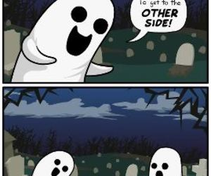funny, ghost, and cute image