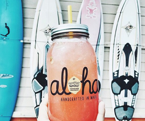 summer, Aloha, and drink image