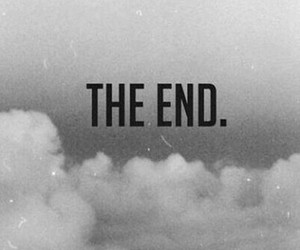 the end, end, and clouds image