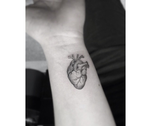 tattoo, heart, and wrist image