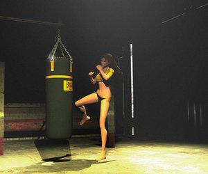 lara croft, tomb raider, and kick boxing image