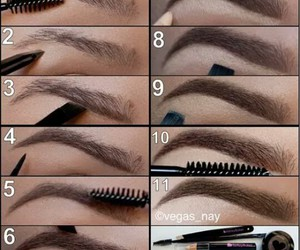 design, eyebrows, and makeup image
