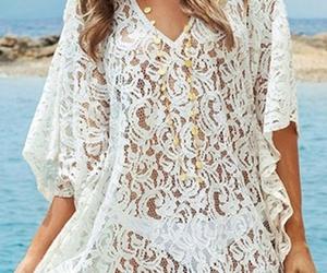 beach, summer, and white image