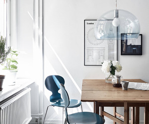 white, blue, and home image