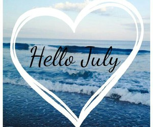 heart, hellojuly, and beach image