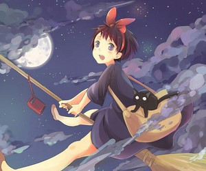 anime, cat, and witch image