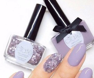 nails, purple, and unhas image